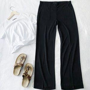 Wide Leg Highwaist Black Pants